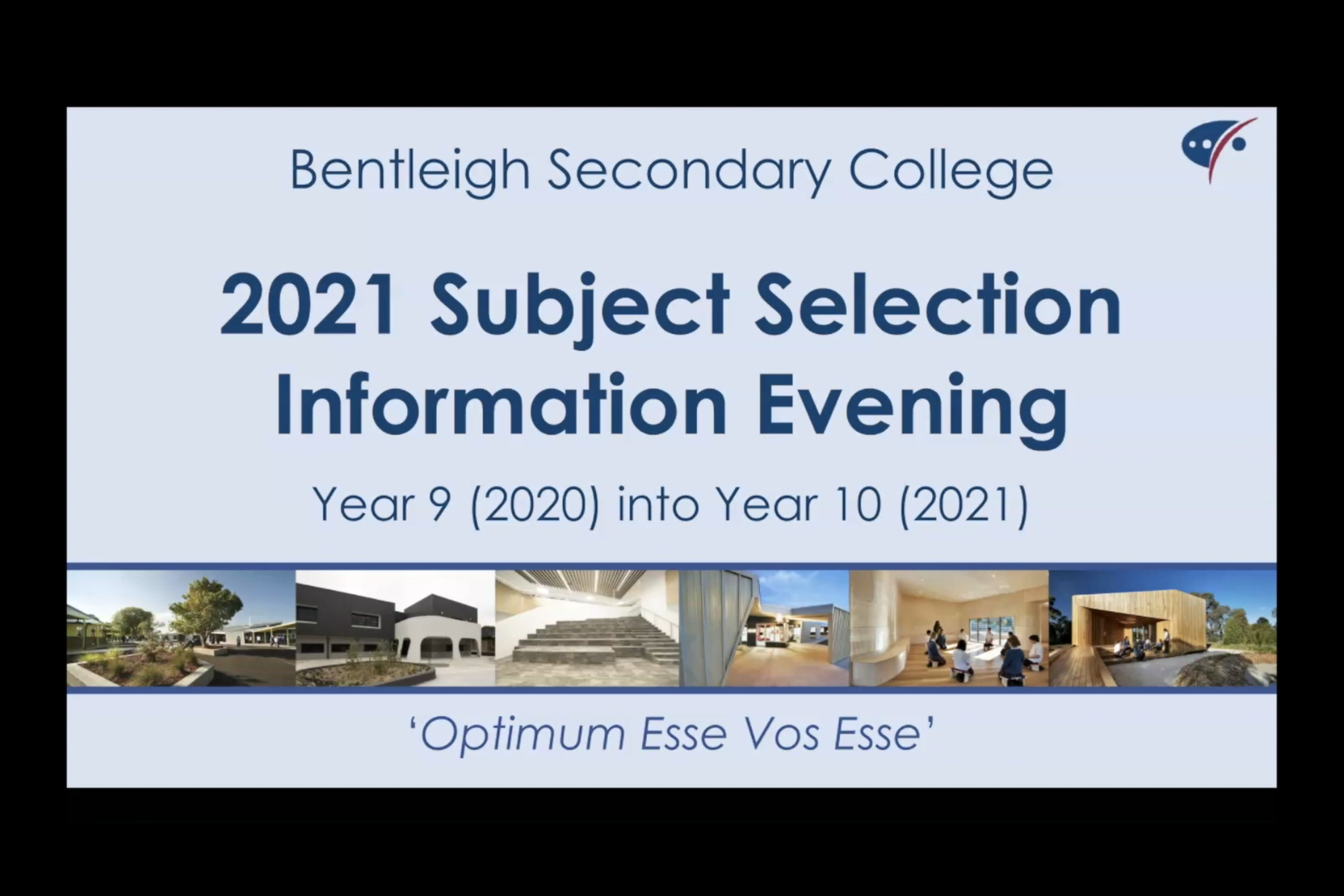 Year 9 inot Year 10 Information Evening